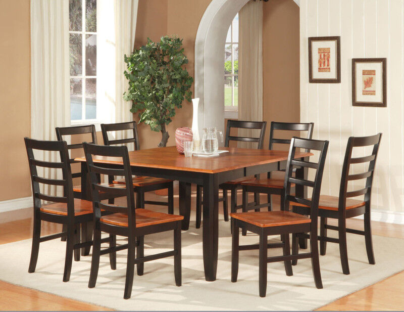 pc square dinette dining room table set and 8 chairs ebay