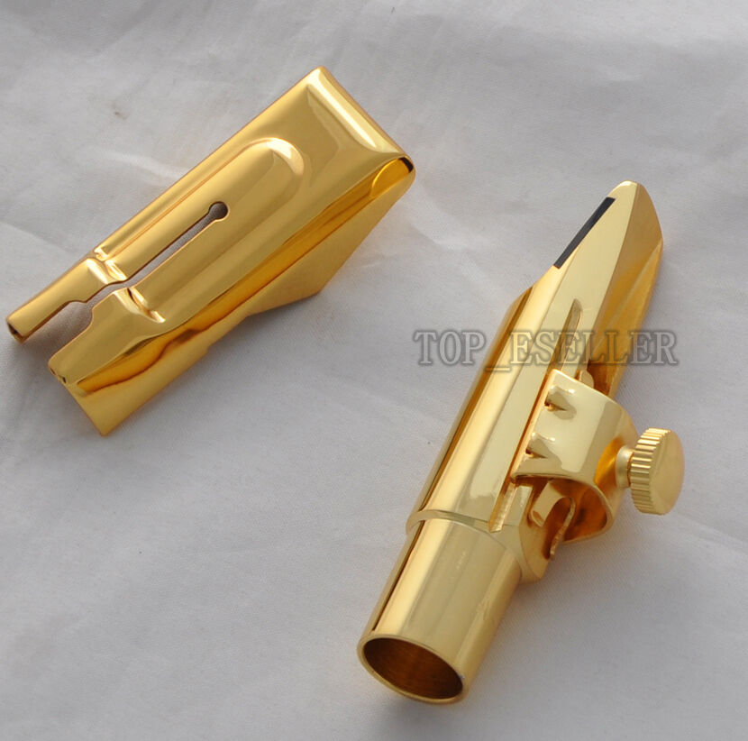 newest metal mouthpiece for alto saxophone eb sax gold plated 7 ebay. Black Bedroom Furniture Sets. Home Design Ideas