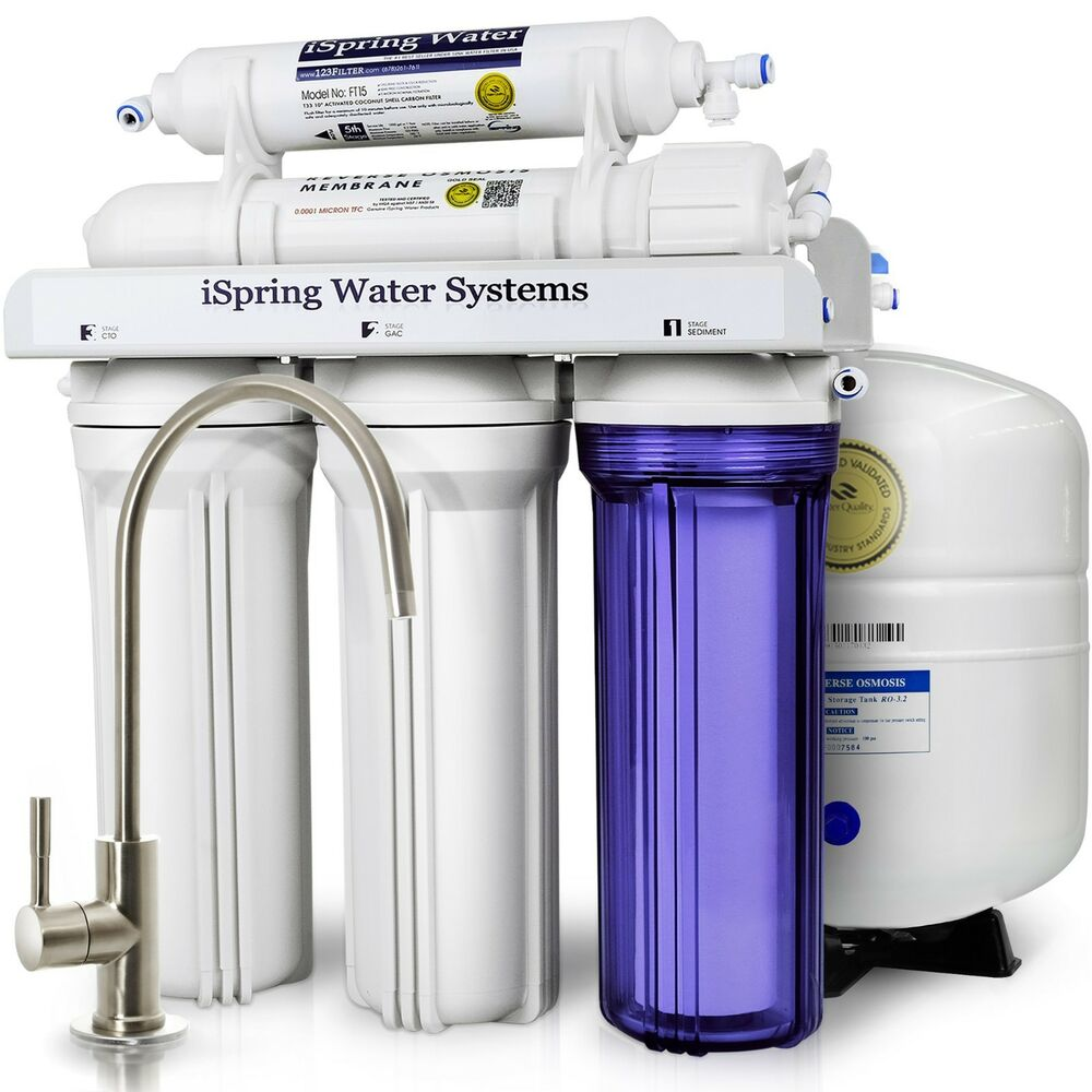 Ispring 5 Stage 75gpd Reverse Osmosis Water Filter System