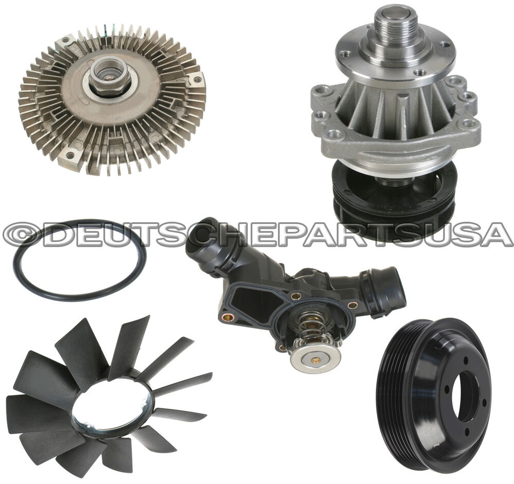Water Pump Pulley Fan Clutch Blade Thermostat Cooling For Bmw E46 X5 Z3 Ebay