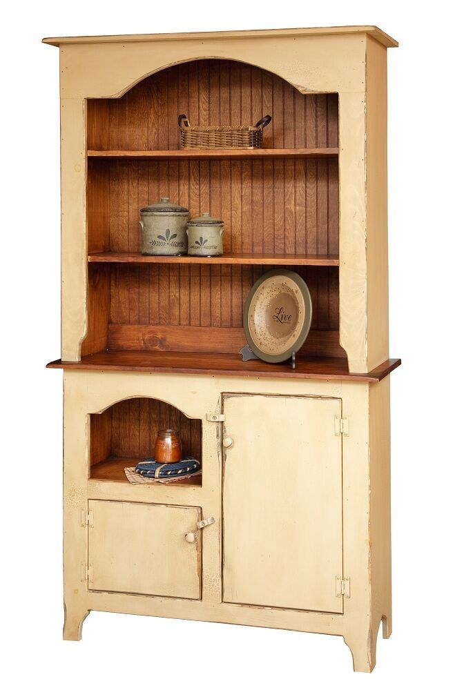 Primitive Furniture Hutch Decor Country Colonial Kitchen