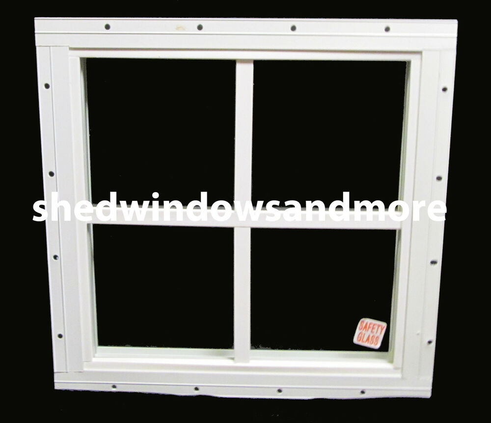 storage shed windows 16 x 16 square white playhouse ebay