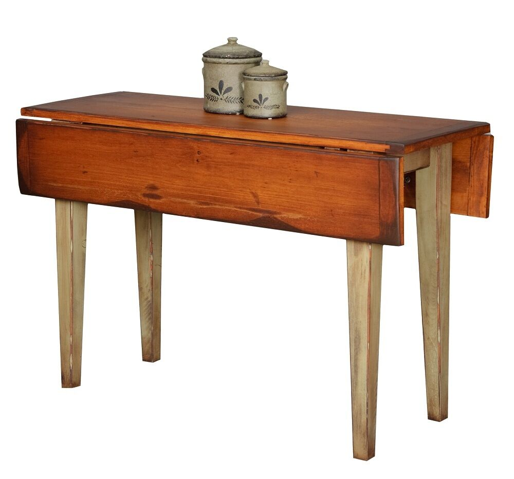 Kitchen Side Table: Primitive Furniture Table Drop Side Leaf Farmhouse Farm