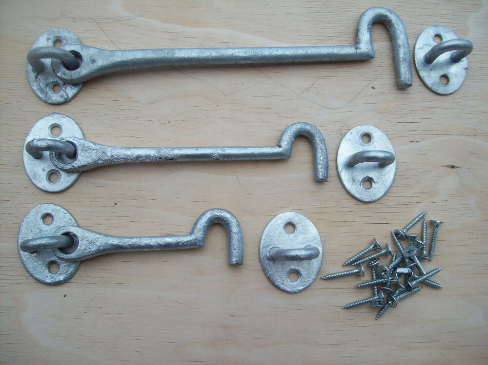 Galvanised Cast Iron Cabin Hook Amp Eye Gate Latch In Sizes