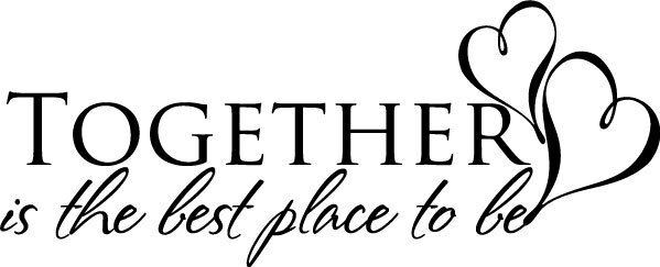 Together Is The Best Place To Be Home Vinyl Decal Wall Decor Ebay