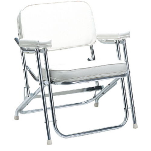 Garelick Boat Chairs White Vinly Folding Deck Chair for Boats, Pontoons and Docks - Folds ...