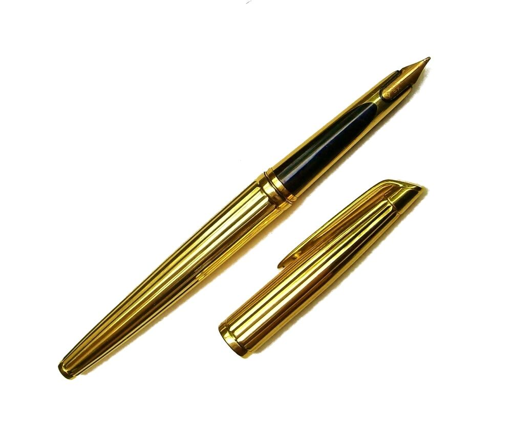 Vintage Waterman 18k Solid Yellow Gold Fountain Pen Ebay