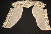 VINTAGE 1940'S NYLON LACE COLLAR 14 INCH LENGTH 13 INCH NECK