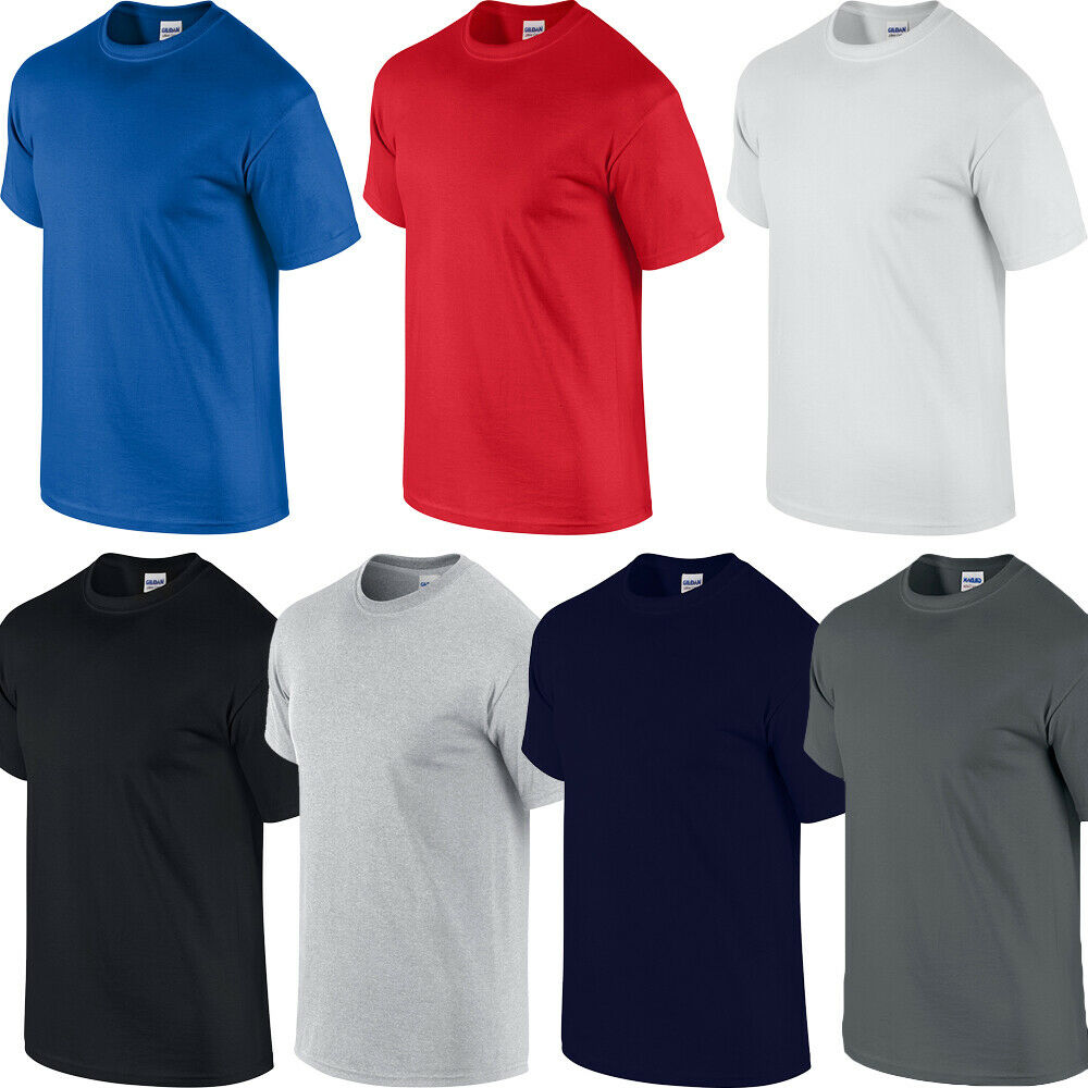 Gildan big mens 100 cotton t shirt xl 2xl 3xl 4xl 5xl ebay for Mens 100 cotton t shirts