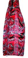 SCARF Red & Black & Ivory Animal Print ZEBRAS & STRIPES