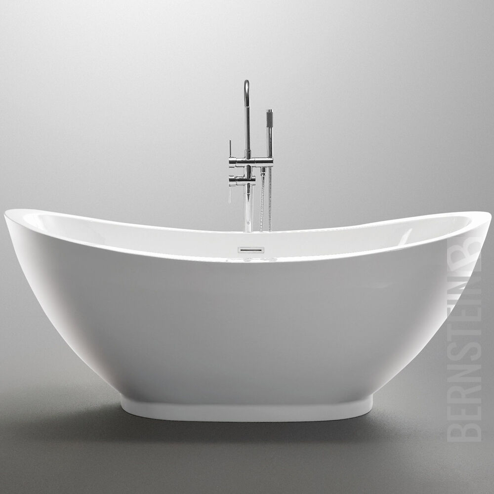 freistehende badewanne valenzia 175x85 inkl armatur ebay. Black Bedroom Furniture Sets. Home Design Ideas