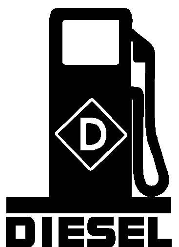 Diesel Fuel Pump Logo Vinyl Decal Sticker Fumes Truck