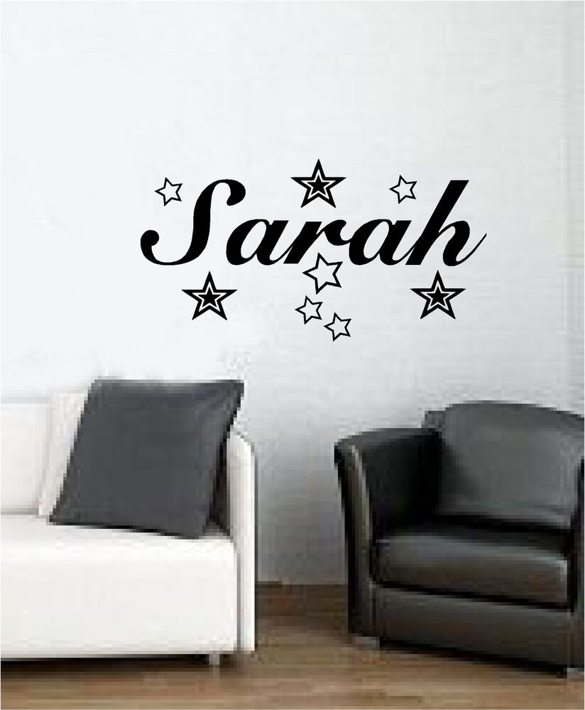 wall decals bedroom personalised name with wall sticker vinyl 13759