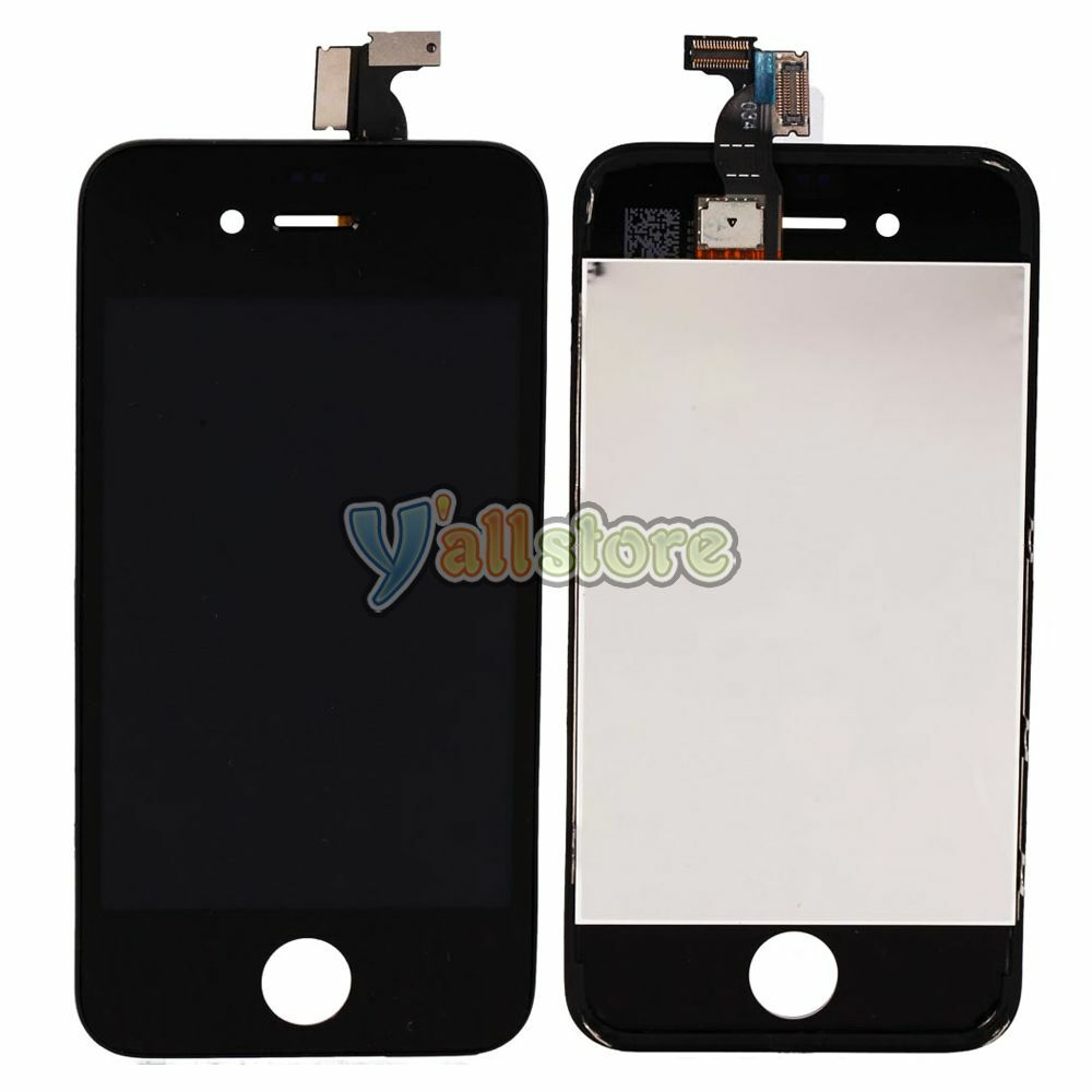 Replacement lcd display touch digitizer screen assembly for Iphone 4 screw template