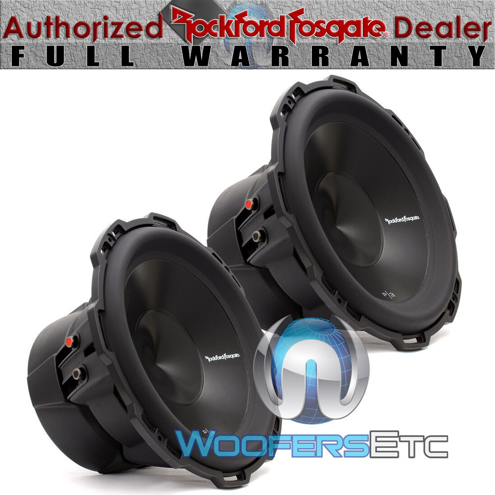 2 rockford fosgate punch p3d4 12 subs 12 dual 4 ohm 1200w. Black Bedroom Furniture Sets. Home Design Ideas