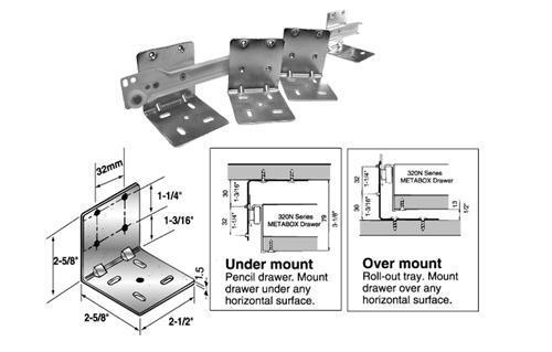 Universal L Mounting Brackets For Base Mounting Pull Out