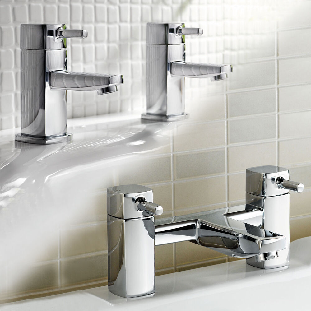 bathroom tap set modern chrome basin sink faucet bath 16631
