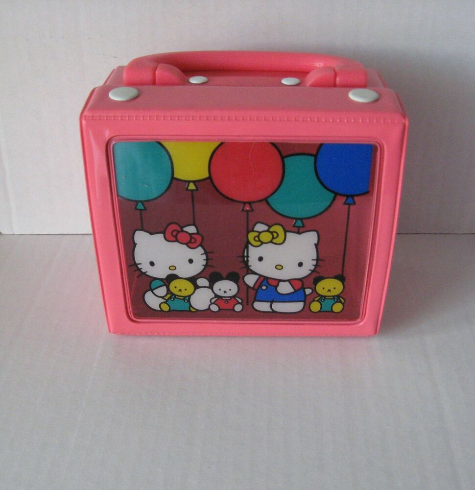 Hello Kitty Squishy Carrying Case : Sanrio Hello Kitty Carry Case Collapsible Balloon Vinyl Vintage 1976-1990 NEW eBay