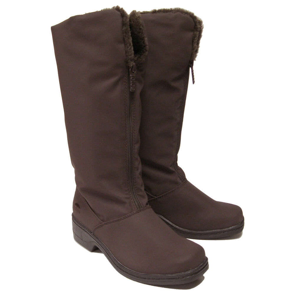womens totes cynthia waterproof zip winter boots brown ebay