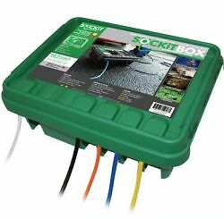 Weatherproof large electrical connections box indoor outdoor holiday lights ebay for Exterior electrical box for light