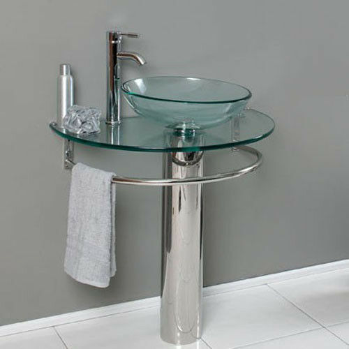 clear glass bathroom sinks 30 inches bathroom tempered clear glass vessel sink 17777