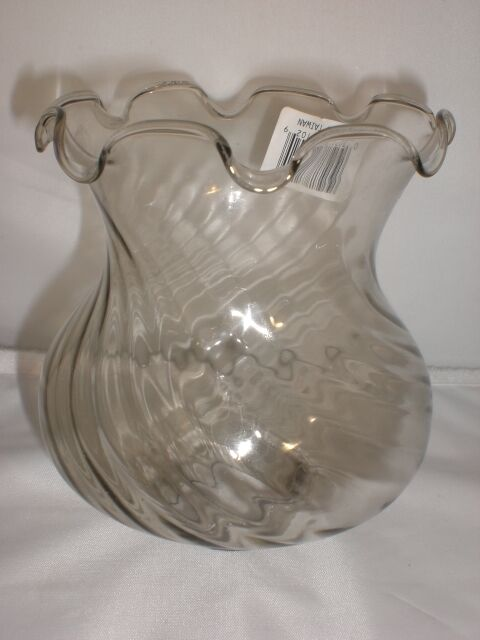 Oil Lamp Candle Holder Clear Glass Replacement Light Shade