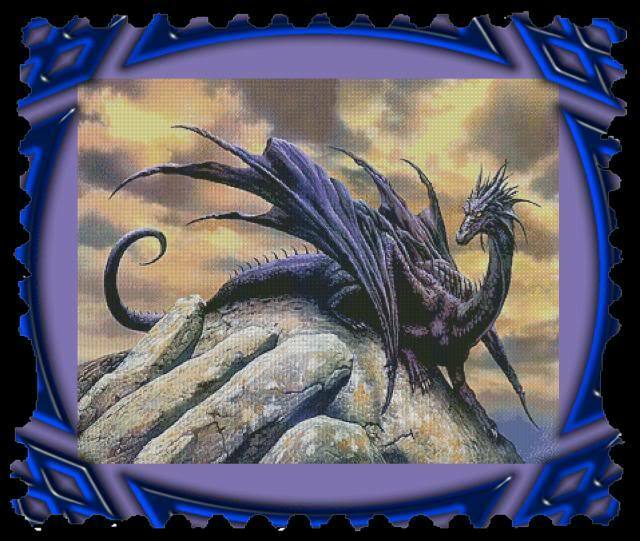 Dragon At Dawn Counted Cross Stitch Pattern Only Ebay