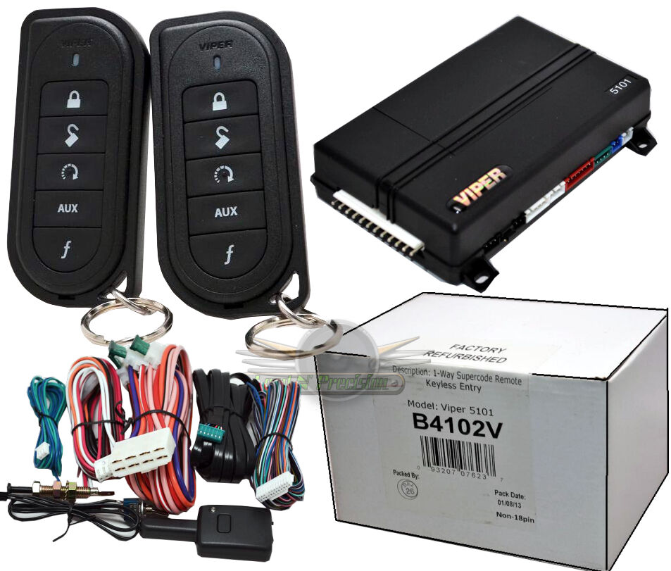 viper 5101 remote start system with keyless entry ebay. Black Bedroom Furniture Sets. Home Design Ideas