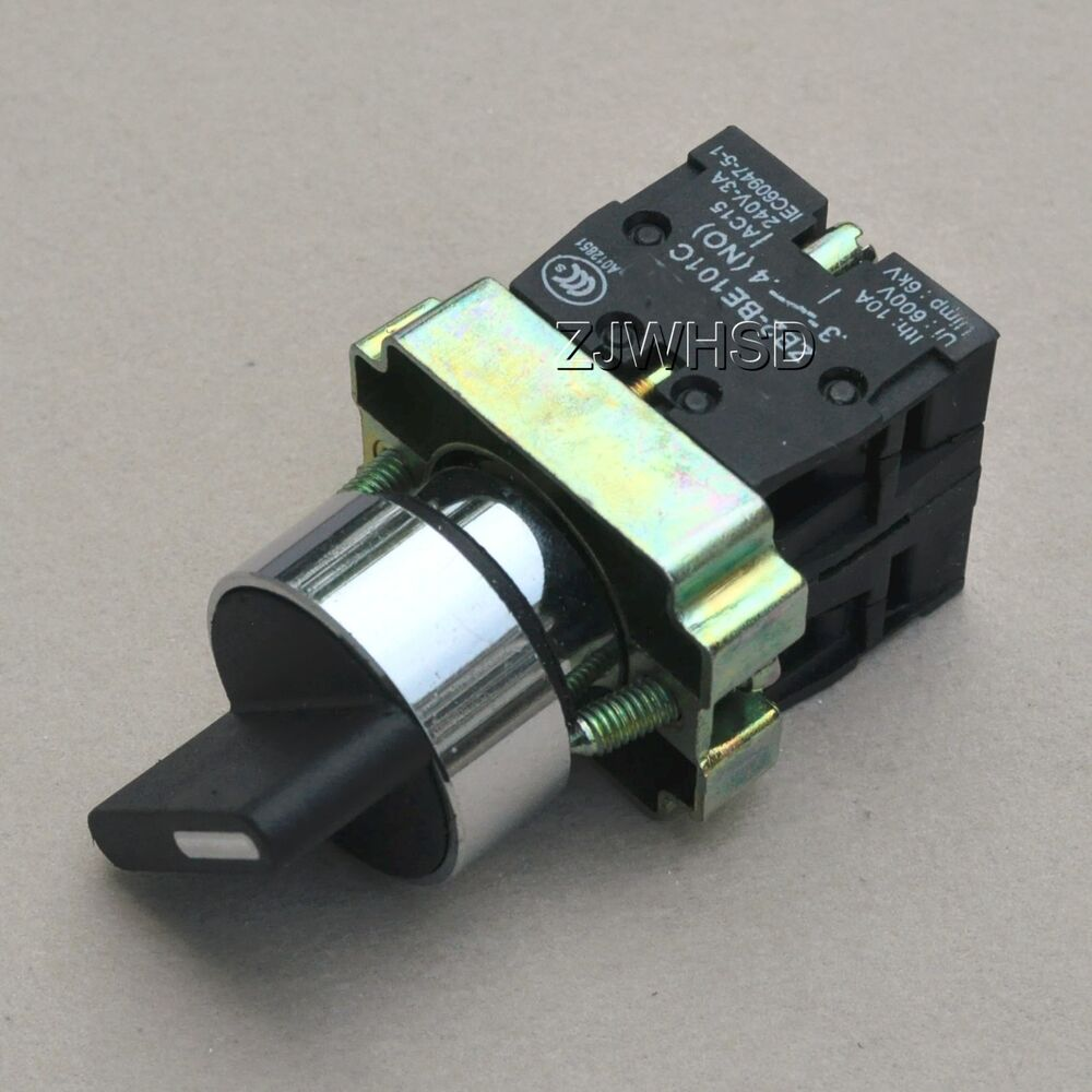 On Off Locking Twist 2 (two) Position Selector Switch Nc