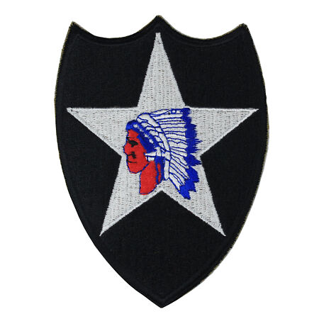 img-2nd Infantry Division Indian Head - WW2 Repro Patch Badge Uniform Army Insignia