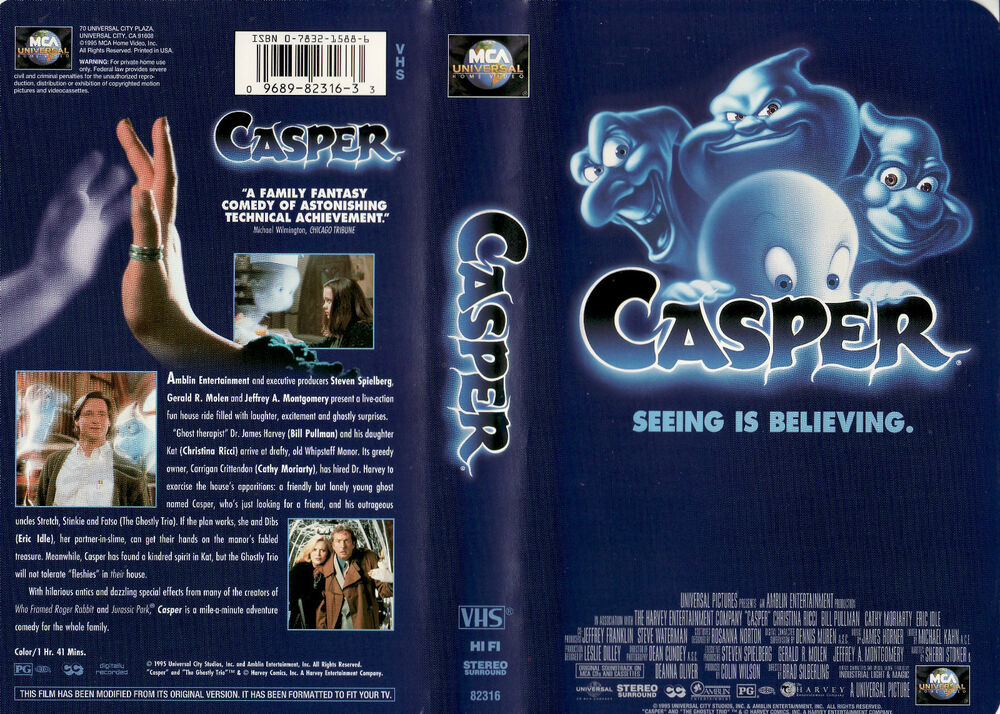 CASPER - SEEING IS BELIEVING (1995) VHS (VERSIONE IN ...