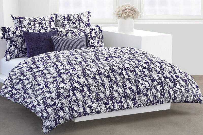 New Dkny Flowering Willow Full Queen Duvet Cover Indigo
