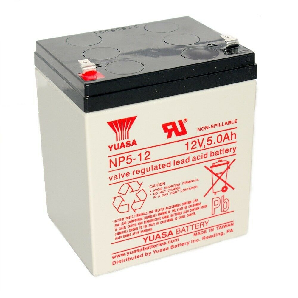 Yuasa np5 12 np5 12 12v 5ah sealed lead acid battery for 12v battery garage door opener