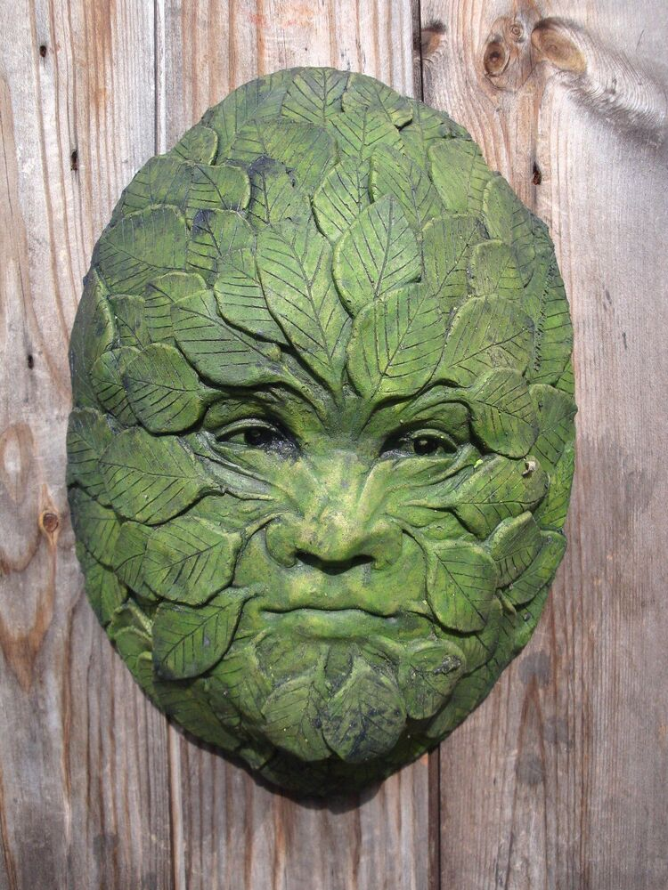 Green man garden ornament wall plaque beech leaf man frost - Watch over the garden wall online free ...