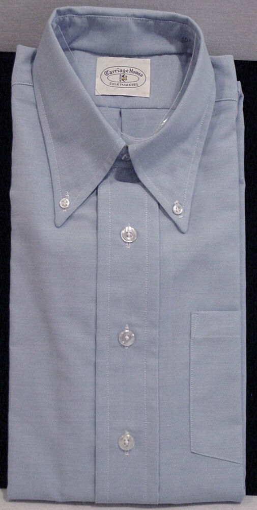 Carriage house mens light blue short sleeve tapered dress for Size 15 dress shirt