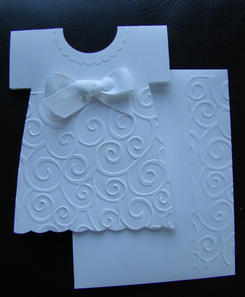 Stampin up girl handmade dress card for birthday baptism for Making baptism dress from wedding gown