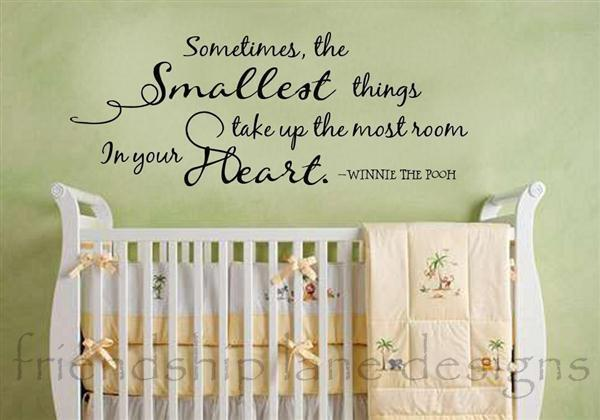 Wall Decal Quotes For Baby Nursery : Winnie the pooh quot smallest things vinyl wall quote decal
