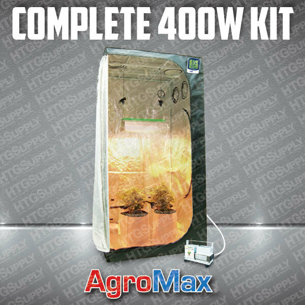 Complete 400 Watt Organic Grow Tent W Light Kit System