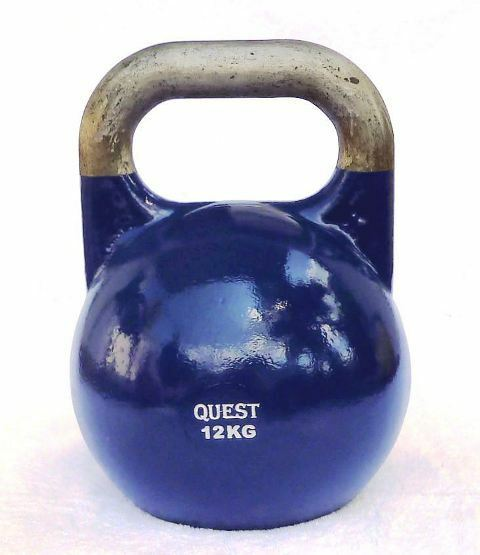 Kettlebell 12 Kg: 12 KG (26 LB) Quest Pro-Grade Competition Kettlebell
