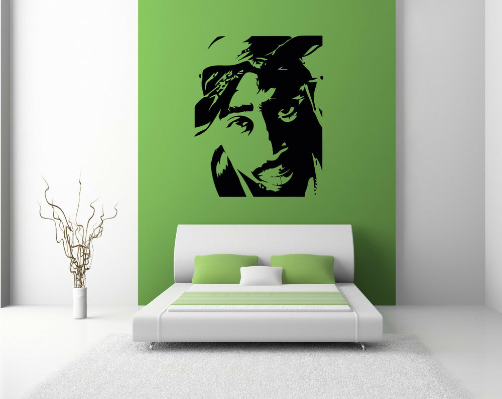2pac Wall Sticker Decals Bedroom Lounge Graphics Large Transfer Wall Art Tupac Ebay