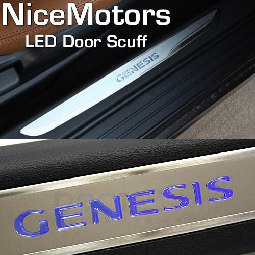 led door sill step scuff plate pair oem for hyundai 2009 2012 genesis coupe ebay. Black Bedroom Furniture Sets. Home Design Ideas