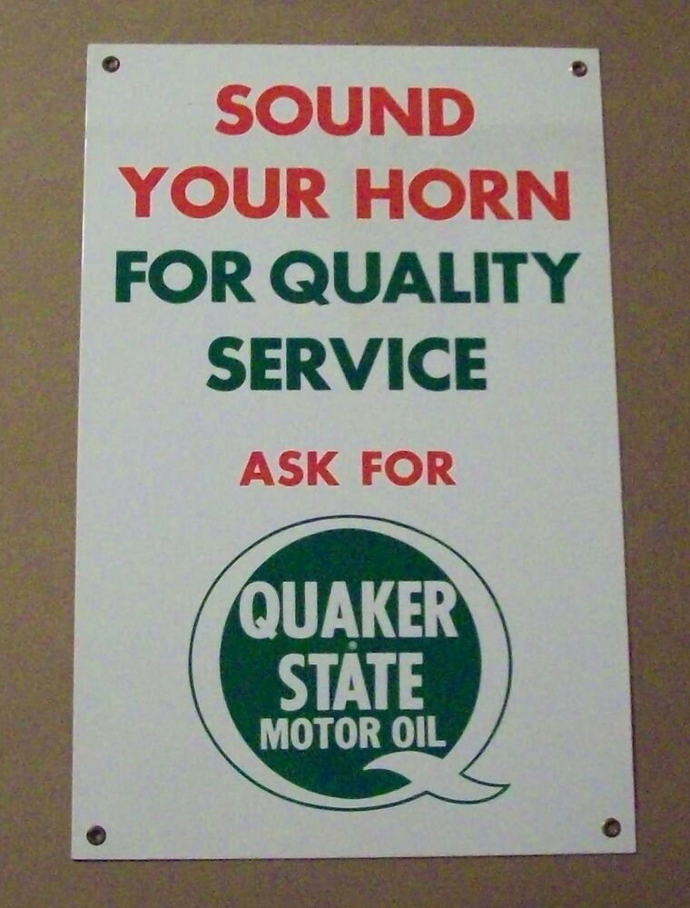 Sound your horn for quality service ask for quaker state for Quaker state motor oil history