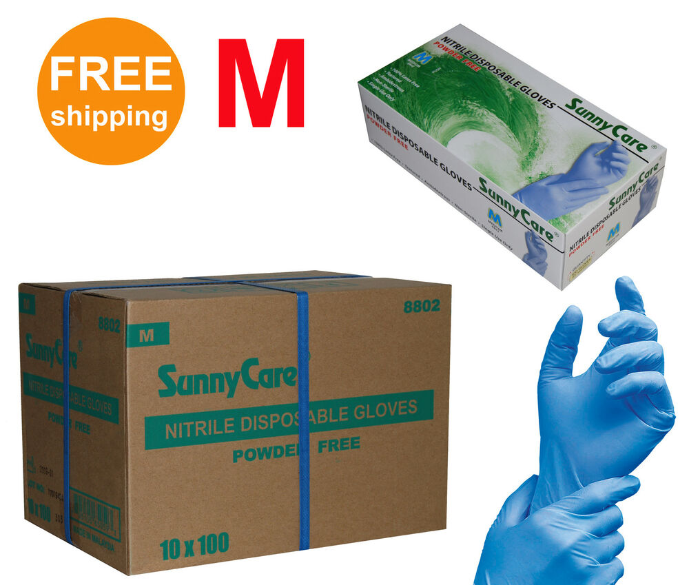 Noble Products Large Powder-Free Disposable Latex Gloves ...