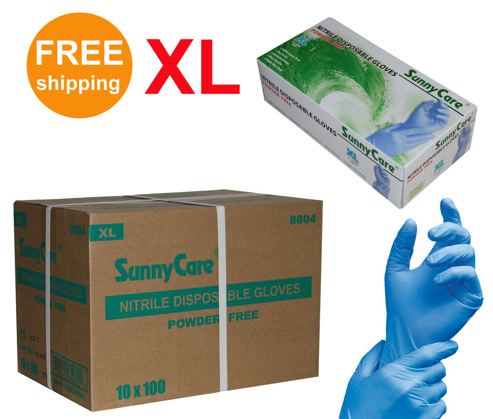 Sunnycare 174 8804 Nitrile Disposable Gloves Powder Free