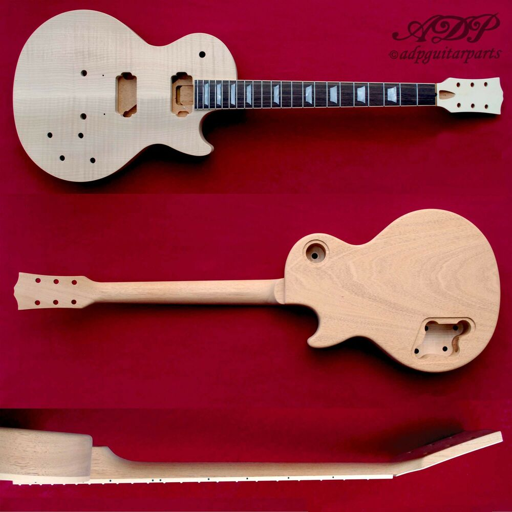 guitare style les paul adp musikraft lp selected flame maple mahogany rosewood ebay. Black Bedroom Furniture Sets. Home Design Ideas
