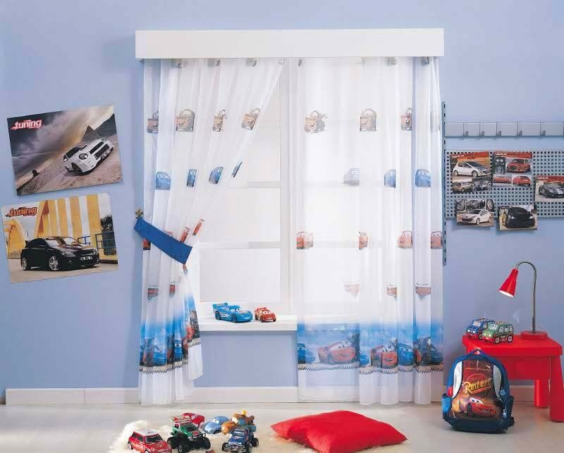 kinderzimmer gardine disney cars ma anfertigung auf. Black Bedroom Furniture Sets. Home Design Ideas