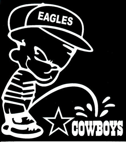 Eagle piss on cowboy