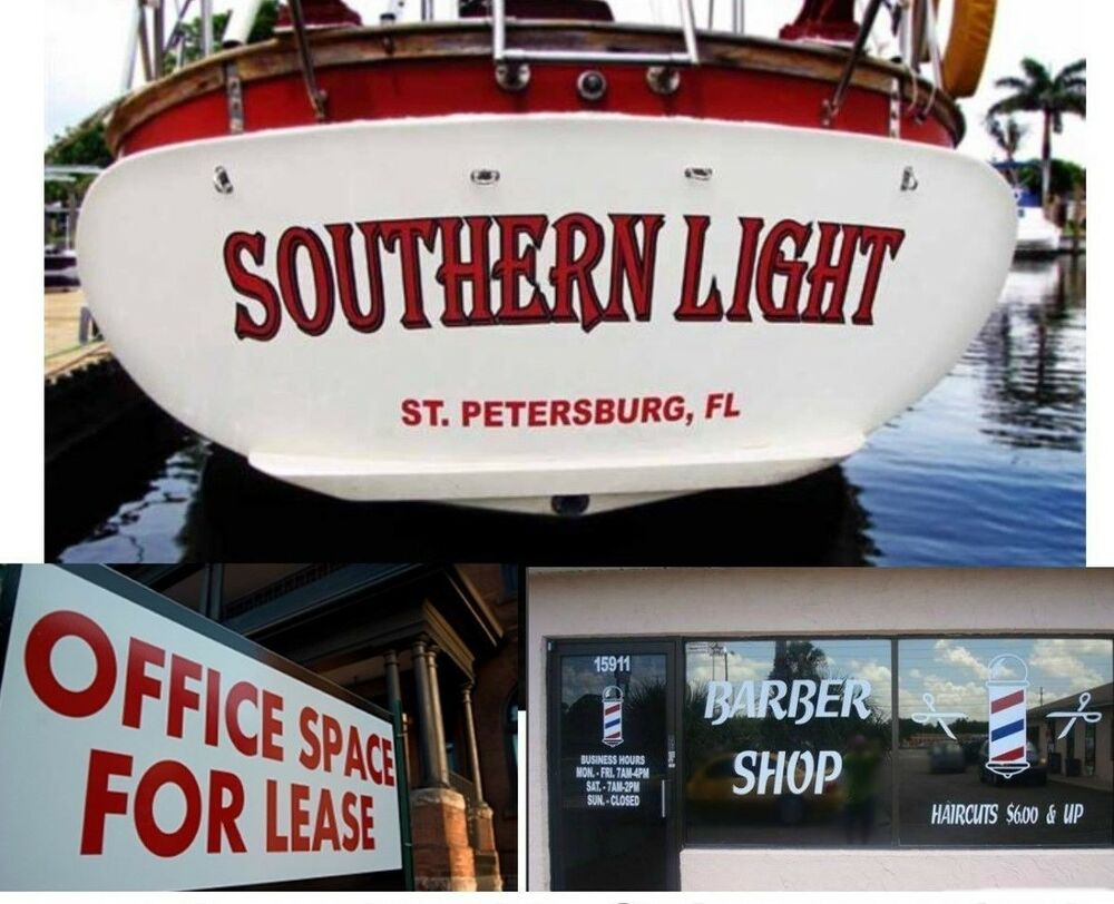 Details about boat name transom vinyl decal lettering custom sticker for business store window