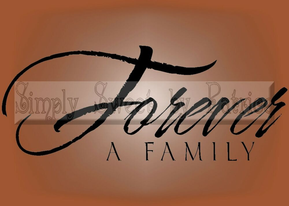 Forever Family Vinyl Lettering Saying Wall Decor Decal Ebay
