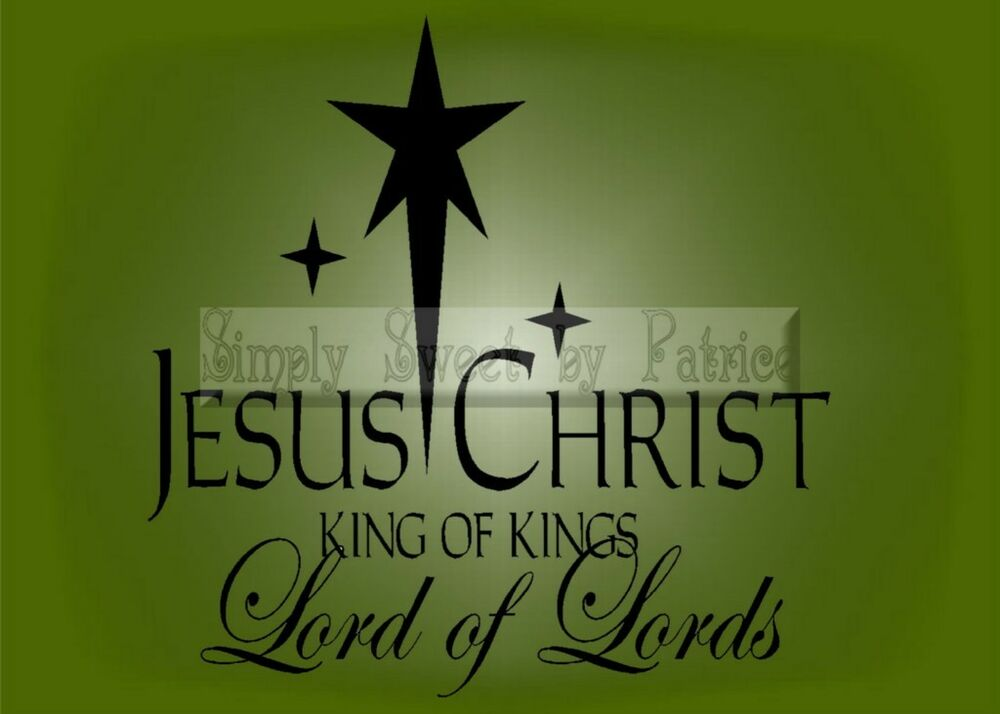 Merry Christmas Quote Wall Art Decal: JESUS CHRIST KING CHRISTMAS Vinyl Wall Saying Lettering